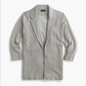 J. Crew Sparkly Grey Sophia Sweater Blazer